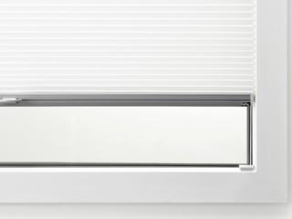 LEHA Wabenplissee Duette M5 in die Glasleiste verschraubt am Fensterfalz