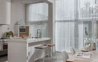 Vertikallamellen von LEHA in Küche
