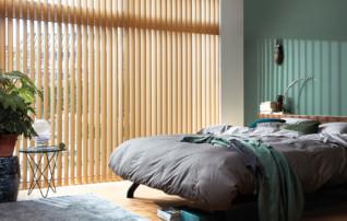 Vertikalanlagen zur Verdunkelung im Schlafbereich